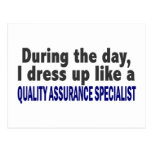 During The Day Quality Assurance Specialist Postcard
