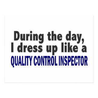 During The Day Quality Control Inspector Postcard