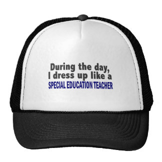 During The Day Special Education Teacher Trucker Hats