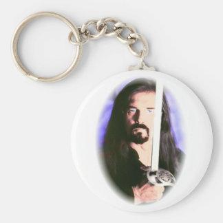 """""""Durkin"""" Basic Round Button Keychain"""