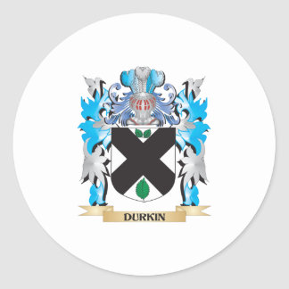 Durkin Coat of Arms - Family Crest Classic Round Sticker