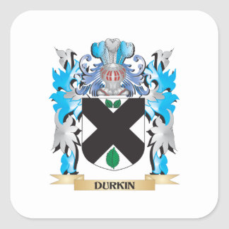 Durkin Coat of Arms - Family Crest Square Sticker