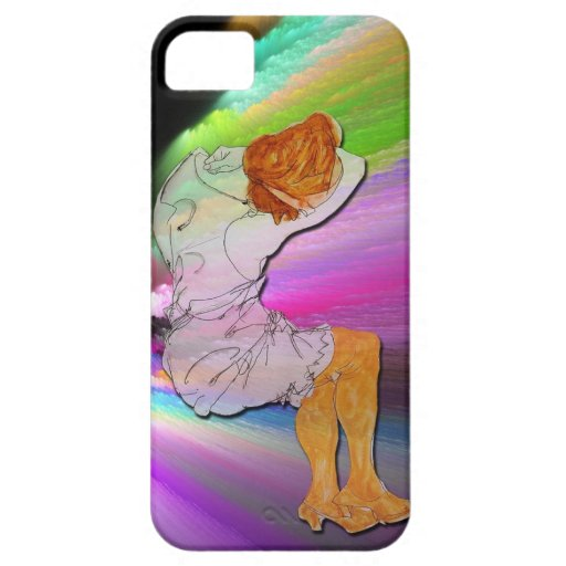 Durmiendo en un arco iris, vintage/extracto iPhone 5 fundas