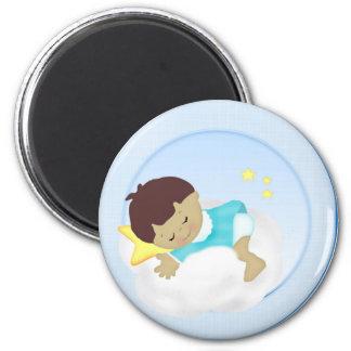 Durmiente de la nube del bebé imanes de nevera