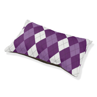 Durmiente del perrito de PurpleOne Argyle Cama Para Perro Pequeño