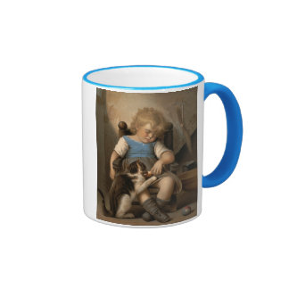 Durmiente inconsciente taza de café