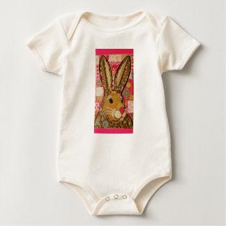 Durmiente lindo del niño del conejo de conejito mamelucos