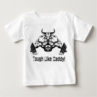 Duro como la camisa del bebé del levantamiento de