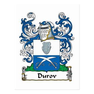 Durov Family Crest Postcard