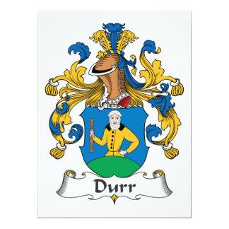 Durr Family Crest Personalized Invites