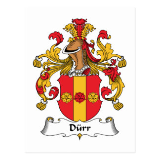 Durr Family Crest Post Card