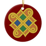 Durrow Knotwork 2016 Ceramic Ornament