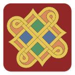 Durrow Knotwork 2016 Square Sticker