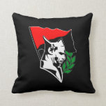 Durruti - Anarchy flag/Anarchy star black talk Throw Pillow