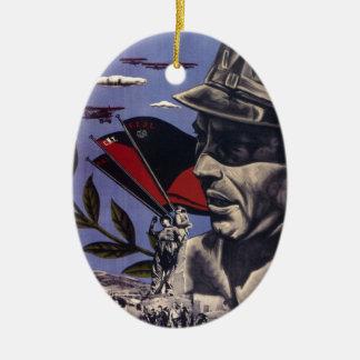 Durruti spanish civil war original poster 1936 FAI Ceramic Ornament