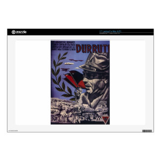 "Durruti spanish civil war original poster 1936 FAI Decals For 17"" Laptops"