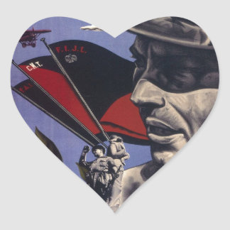 Durruti spanish civil war original poster 1936 FAI Heart Sticker