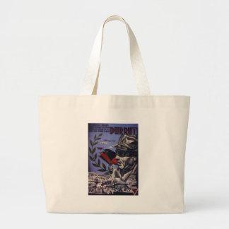 Durruti spanish civil war original poster 1936 FAI Large Tote Bag