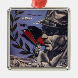 Durruti spanish civil war original poster 1936 FAI Metal Ornament