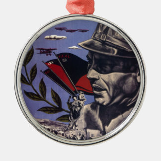 Durruti spanish civil war original poster 1936 FAI Metal Ornament