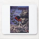 Durruti spanish civil war original poster 1936 FAI Mouse Pad