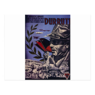 Durruti spanish civil war original poster 1936 FAI Postcard