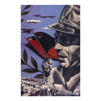 Durruti spanish civil war original poster 1936 FAI Stationery