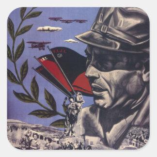 Durruti. True Anarchists are_Propaganda Poster Square Sticker