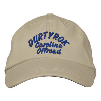 Durtyrok Adj Hat Blue Font Embroidered Hats