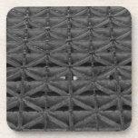 Dusable Bridge Abstract Grayscale Beverage Coaster