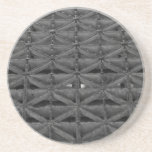 Dusable Bridge Abstract Grayscale Sandstone Coaster