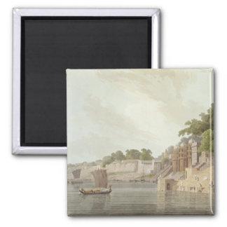 Dusasumade Gaut, en Benares en el río el Ganges, f Imán Cuadrado