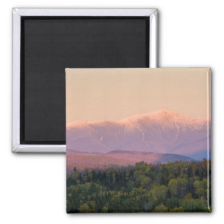 Dusk and Mount Washington in new Hampshire's 2 Inch Square Magnet