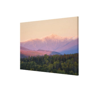 Dusk and Mount Washington in new Hampshire's Canvas Print