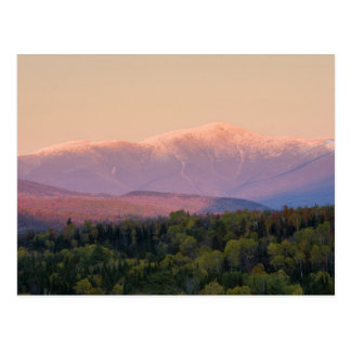 Dusk and Mount Washington in new Hampshire's Postcard
