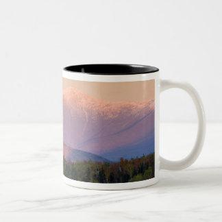 Dusk and Mount Washington in new Hampshire's Two-Tone Coffee Mug