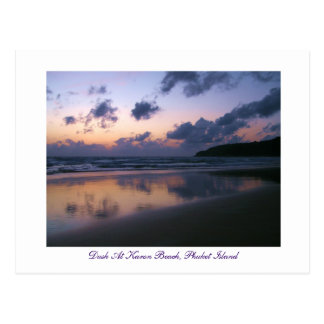 Dusk At Karon Beach Post Cards