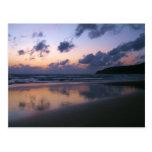 Dusk At Karon Beach Postcard