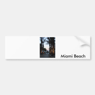 Dusk At Miami Beach Bumper Sticker