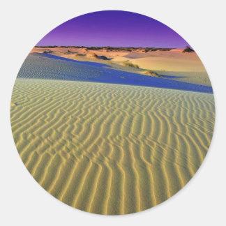 Dusk at Monahans Sands Classic Round Sticker