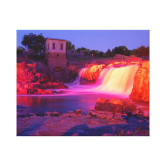 Dusk at Sioux Falls Canvas Print