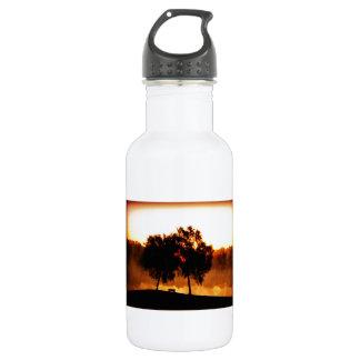 Dusk Bench Trees 18oz Water Bottle