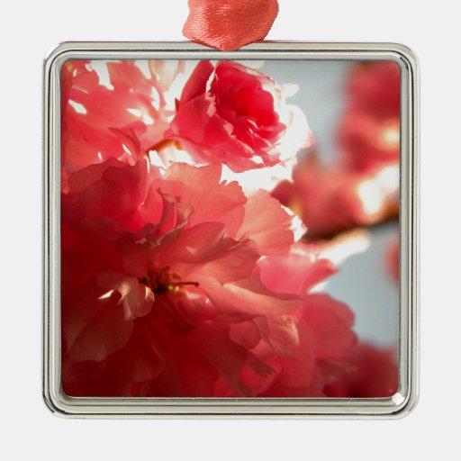 Dusk Blossoms Metal Ornament