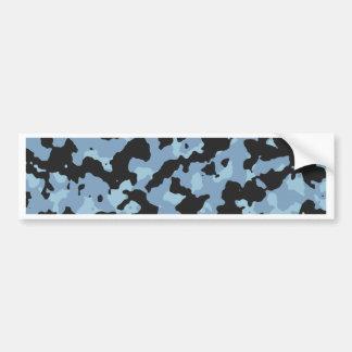 Dusk Blue - Aquamarine Camouflage Print PANTONE Bumper Sticker