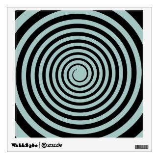 Dusk Blue & Black Spiral Customized Template Wall Sticker