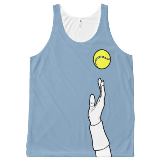 Dusk Blue - Cool Tennis Serve All-Over-Print Tank Top