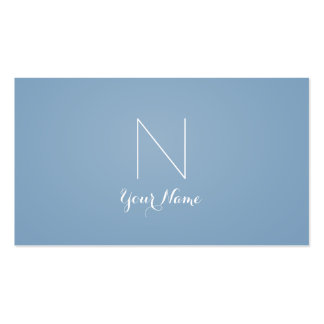 Dusk Blue - Daring Sophisticated and Monogrammed Business Card