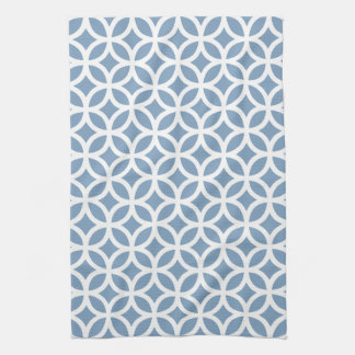 Dusk Blue Geometric Kitchen Towels
