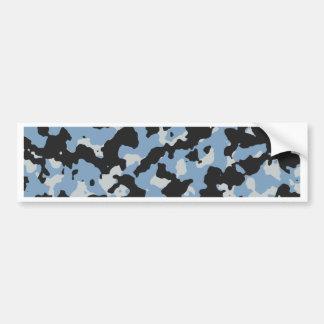 Dusk Blue - Glacier Gray Camouflage Print PANTONE Bumper Sticker