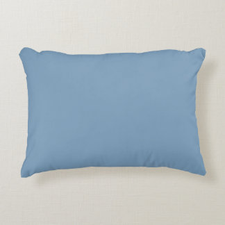 Dusk Blue High End Solid Color Accent Pillow